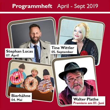 Programmheft April - September 2019