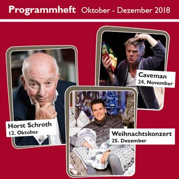 Programmheft Oktober - Dezember 2018